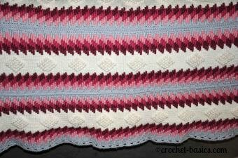 Crochet Stitches Advanced : Article 7: Crocodile Stitch Crochet Instructions Images - Frompo